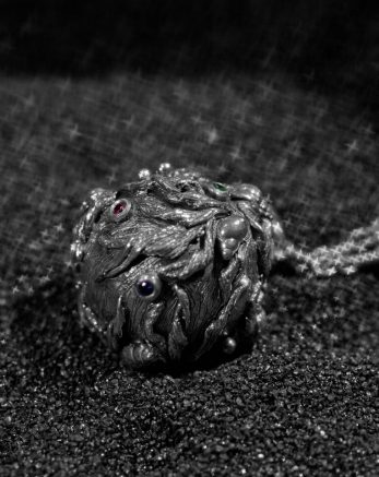 Sterling Silver and Gemstone Necklace- Globo Double- KAB Jewellery_preview